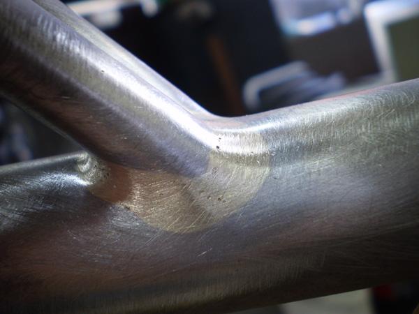 Repair cracked seat tube